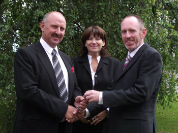 Handing over the keys in August 2011