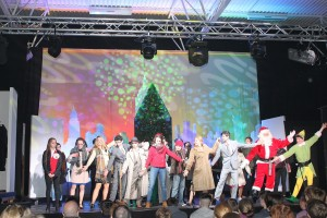 Cast members of 'Elf' the musical during their recent most successful run of shows.