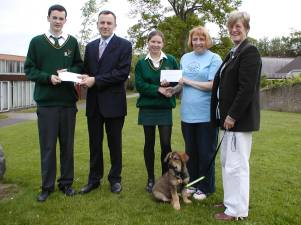 Recipients of cheques following our annual   Sponsored Walk
